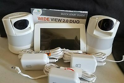 Summer Infant WIDE VIEW 2.0 DUO Digital Color Video Baby Monitor Set  2 Cams Wow
