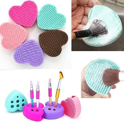 2018 Silicone Makeup Brush Cleaner Pad Washing Scrubber Board Cleaning Mat  New