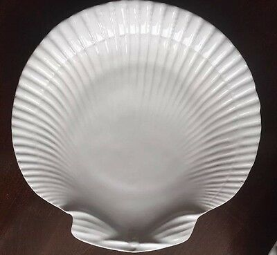 Vintage Portugal 8 White Shell Salad Lunch Plate 8.5 in. Mint Horchow Tickets