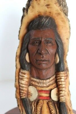 Limited Edition Neil Rose Sculpture Native American - Roar Of Thunder C 1990