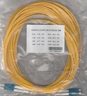 10M LC/UPC-LC/UPC SM 9/125 DX Yellow, Fiber Optic Patch Cable