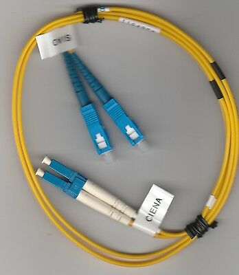 1M LC/SC DX SM 9/125 Yellow, Fiber Optic Patch Cable #1164958