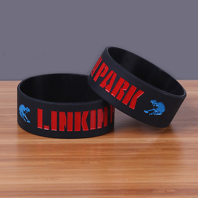 NEW Linkin Park rock band Silicone Rubber Wristband bracelet jewelry gift 1 pcs