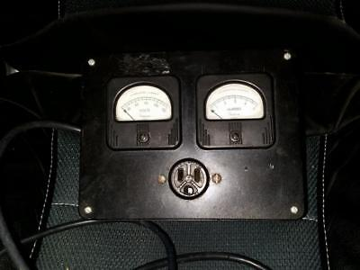 Vintage Simpson Alternating Current Volts Meter and Amperes Meter
