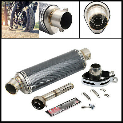 Motorcycle Carbon Fiber Exhaust Muffler Pipe with DB Killer Slip on 38-51 mm