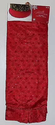 Red Glistening Brocade Tree Skirt~Jaclyn Smith~New~Retails $24.99