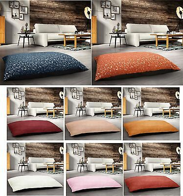 Large Floor Padded Cushion Pet Bed Pillow Jacquard Suede 85cms x 55cms Removable