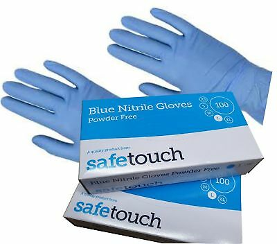 1000 x Medium Nitrile Powder Free Blue Disposable Gloves Best Quality SafeT