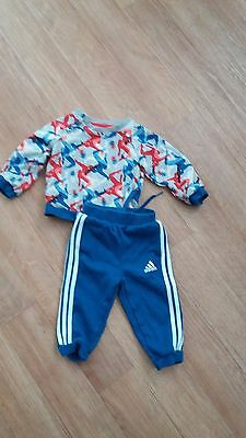 Baby Adidas  trackie track suit, top and bottom  size 6-9 months