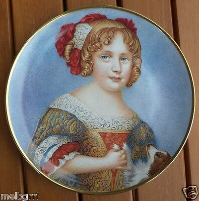 Princess Anne The Queen As A Child Limited Edition Plate Franklin