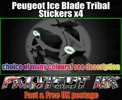 Peugeot ICE BLADE Tribal Stickers iceblade 50 100 125 Speedfight Jetforce Ctech