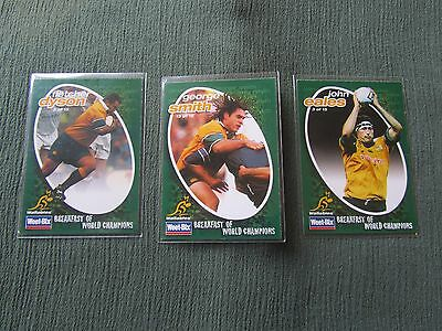 WeetBix Wallabies Rugby Union Collectors Cards