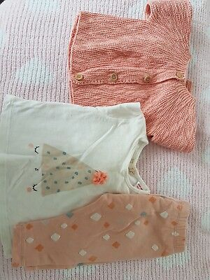 zara baby girl 1-3 months 3 piece outfit.