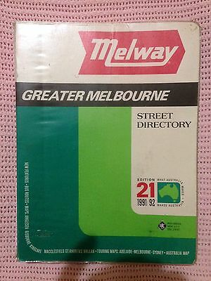 MELWAY RARE 21st EDITION 1991/1992 GC WITH PLASTIC COVER