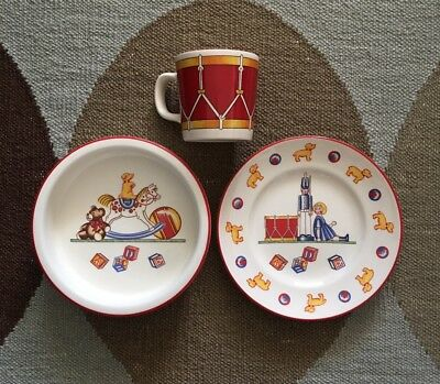 TIFFANY & CO. Child's Bowl Plate & Cup Set Tiffany Toys by Tiffany & Co
