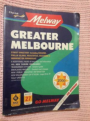 Melway Millennium 2000 Edition Gc With Plastic Cover