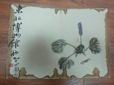 Very Rare Old Chinese Hand Painting Plants Insects Book Signed QiBaiShi