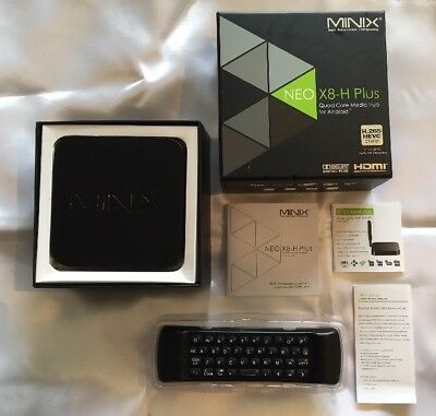 Minix Neo X8-H Plus Android TV Box Quad Core Boxed & Wireless AirMouse/Keyboard