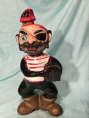 Pirate rare vintage Tilso liquor bottle with tag on the bottom