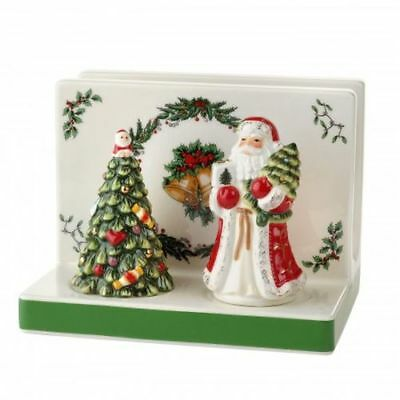 New Spode Christmas Tree Napkin Holder and Salt & Pepper Set