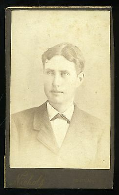 CDV Photo Young Man from Johnston Family Album by Niehols of Rutland VT