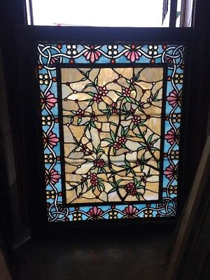 Sg 1511 Amazing Collector Grade Antique Jeweled Floral Landing Window
