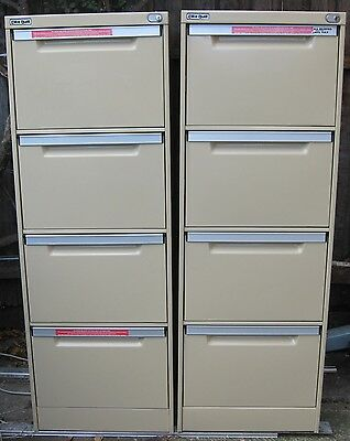 "Anti-tilt Heavy Duty ""Brownbuilt"" 4 drawer FILING CABINET + key"