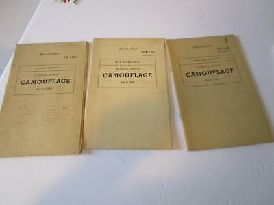 WW2 1943  Camouflage Tech Manuals