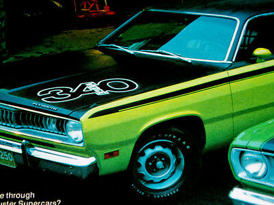 1971 PLYMOUTH DUSTER 340/TWISTER ORIGINAL AD -318 V8 engine/grille/rallye wheels
