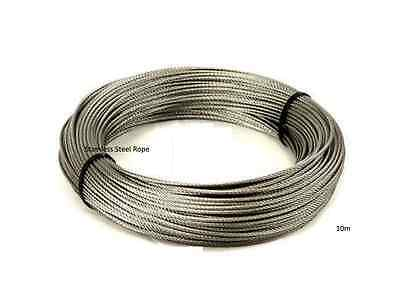 20M STRONG STAINLESS Steel Wire Rope (Plastic Coated) - £3.89 ...