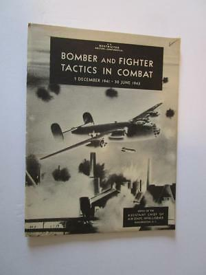 WW2 1943 Bomber & Fighter Tactics In Combat Restricted Booklet
