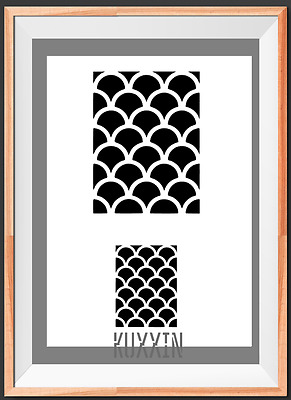 Fish Scale Pattern A4 Mylar Reusable Stencil Airbrush Painting Art Craft