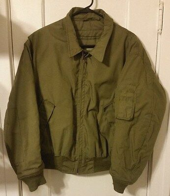 Us Army Nomex Cvc Flight Jacket Cold Weather Fire Resistant Aramid Large New Nos