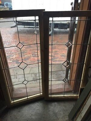 Sg 1520 2 Available Price Each Antique Leaded Beveled Transom Window 22.25 X 46