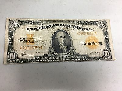 Series 1922 $10 Gold  Certificate  Large Note