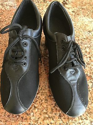 Very fine Practice Ballroom Latin Shoes  Black Size 6 1/2