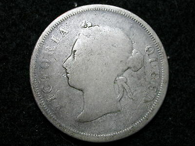 FH-2948: Straits Settlements, 50 CENTS, Silver, 1897, Key date, Lower grade