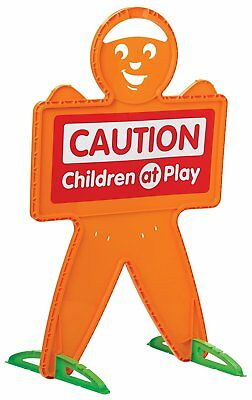 Drivers Alert Safety Man Safe Street Caution Toy Children At Play Sign Kids -NEW