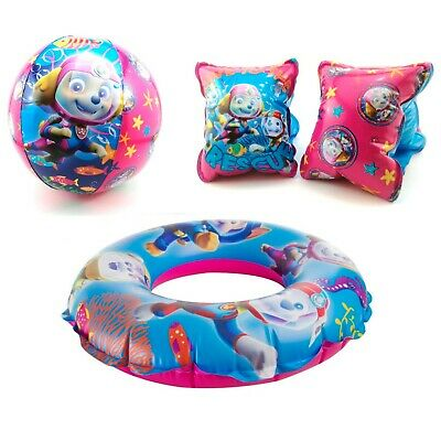 Paw Patrol Girls Inflatable Beach Pool Swimming Swim Ring  Arm Bands  Set of two