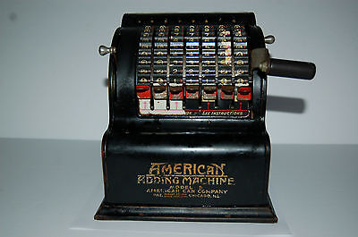 Vintage American Adding Machine Model 5, No. 56808, American Can Co Chicago ILL.