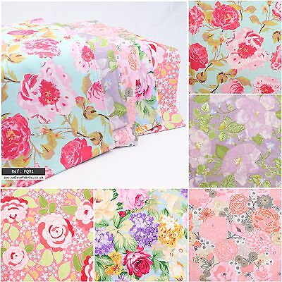 Pretty Floral Designers 100/% Cotton Collection Quilting Craft FQ Bundle FQ91