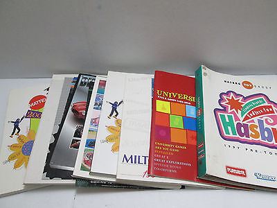 "Lot Of Toy Retailer Color Catalogs ""mattel-Hasbro-Milton Bradley-Tomy & More"""