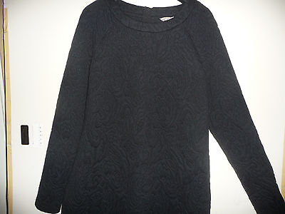 Banana Republic dress size 10 medium M jacquard black raglan sleeves 2014 style