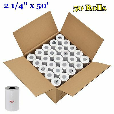 "2 1/4"" x 50' Thermal Receipt Paper Rolls Case Of 50 Pos Cash Register BPA Free"