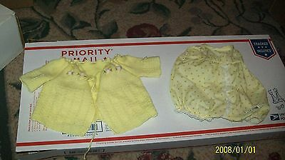 CABBAGE PATCH KIDS    DOLL CLOTHES, coleco yellow preemie OUTFIT