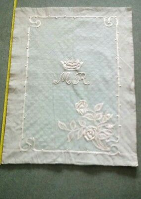 antique silk and satin bed cover quilt