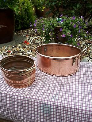 VINTAGE Copper Tub and Planter With Handles.