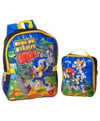 "Sonic the Hedgehog ""Step it Up"" Backpack with Lunchbox"