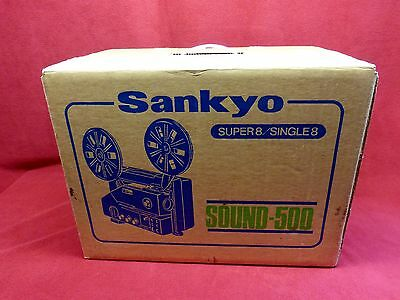 SANKYO SOUND 500  Super 8 Movie  Projector  Works Great FREE SHIPPING