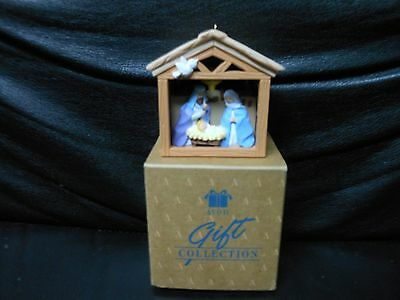 "Avon Gift Collection ""First Christmas Nativity"" Light-Up Ornament NEW"